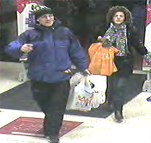 Do you recognise these people? We want to speak to them after a stolen credit card and bank card were used to make payments at various stores in Preston City Centre last month.        The cards were taken from an unlocked car parked on a driveway at an address on Bluebell Way in Bamber Bridge...