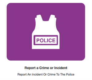 report crime logo