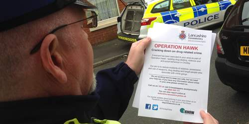 Operation Hawk – Disrupting Drug Dealing in Chorley
