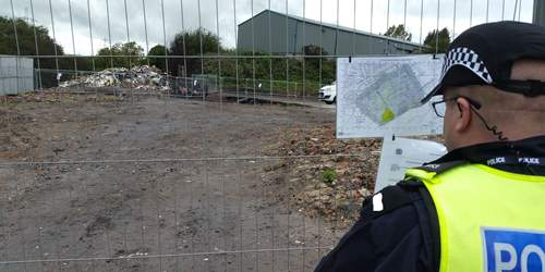 Police enforce closure order at Great Harwood site