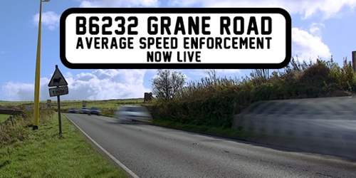 Average speed cameras now live on B6232 Grane Road, Haslingden