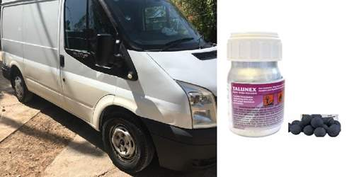 Appeal after van containing hazardous material is stolen