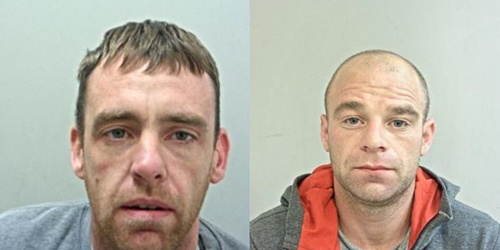 Two men jailed for a total of 10 years after a series of burglaries